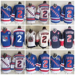 Wholesale leetch rangers jersey - CCM New York Rangers Hockey 2 Brian Leetch 75th Anniversary Jerseys Stitched