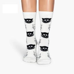 Расчесывать хлопок дамы носки красочные жаккард экипаж счастливый смешной кот печатных женщин мода носки Оптовая Бесплатная доставка 12 пар / лот cheap jacquard socks от Поставщики жаккардовые носки