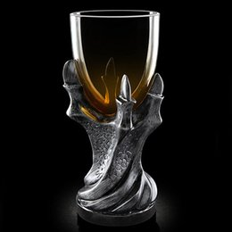 Wholesale Whiskey Tray - Game Of Thrones Dragon Claw Mug Vodka Wine Goblet Glass Shot Cup Bear Whiskey Dragons Gothic Cups And Mugs Drinking Supplies