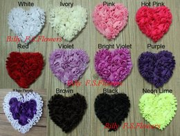 Wholesale Flower Garments Laces - Free Shipping 10y 100pcs 3'' Chiffon Rosettes Boutique Heart Flower Lace for Girls Headbands Hair Band Garment Hat Bag Accessories