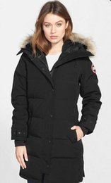 Wholesale Down Proof - good quality fashion Canada long ladies down jackets Hoodie Down Jacket best quality cold-proof keep warm coat free shipping