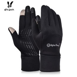 Wholesale Riding Gloves For Women - VBIGER Men Women Outdoor Touch Screen Running Gloves Winter Warm Gloves Mittens for Driving Riding Cycling Fleece