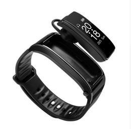 casque de montre de téléphone Promotion Pour iphone samsung smartphones y3 smart montre bracelet talk band 2 en 1 bluetooth casque casque Moniteur de fréquence cardiaque