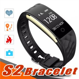 Wholesale dynamic black - 2018 Dynamic Heart Rate S2 Smartband fitness tracker Step Counter Smart Watch Band Vibration Wristband for ios android pk ID107 fitbit tw64