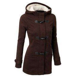 Wholesale Long Women Pea Coats - S-6XL Fashion Winter Claw Clasp Womens Wool Blended Classic Pea Coat Jacket