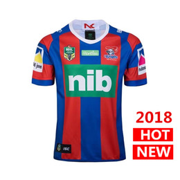 Wholesale Australia Free - DHL free shipping 2018 2019 new NEWCASTLE KNIGHTS home rugby Jerseys NRL National Rugby League shirt nrl jersey Australia shirts s-3xl