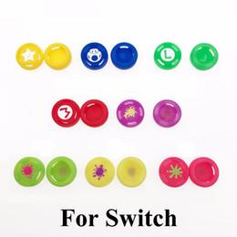Trasporto della protezione della pelle online-Silicone analogico Thumb Stick Grip Controller Sticks Joystick Cap Skin Cover per Switch NS Joy-Con Controller di alta qualità VELOCE VELOCE