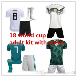 Wholesale germany red - Germany Soccer JerseyS 2018 world cup muller WERNER SHORTS OZIL KROOS DRAXLER HOME WHITE SOCKS FOOTBALL JERSEY SHIRT kit with socks