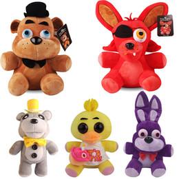 foxy brinquedo de pelúcia Desconto 25 cm cinco noites em Freddy FNAF brinquedos de pelúcia Golden Freddy fazbear Mangle urso foxy Bonnie Chica boneca de pelúcia para brinquedos infantis