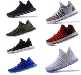 Wholesale Basketball Shoes Durant - New Air KD Basketball Shoes Top quality KD 10 Oreo Be True UniversIty Red White Chrome Kevin Durant Outdoor Sneakers Sports Shoes