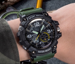Wholesale Shanghai Watches - Digital LED Men Quartz Sports Watches For Men Waterproof Japan Movement Military G Style Shock Watches For Men & boys Good Gift