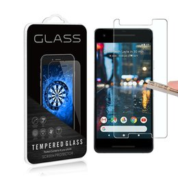 Wholesale phone guards - 2Pack For Google Pixel 2   Pixel 2 XL 0.3mm 2.5D Anti Shatter 9H Tempered Glass Screen Protector Mobile phone LCD Skin Guard