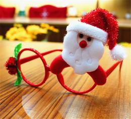 2019 molduras de brinquedos Enfeites de natal Óculos Frames Decor Festa À Noite Toy kids Coelho Presentes molduras de brinquedos barato