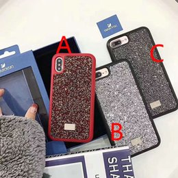 Wholesale diamond mobile phone cover - for iPhone X case stylish new shiny diamond mobile phone shell case for iPhone 7 7plus 8 8plus TPU + PC back cover for iPhone 6 6S 6plus