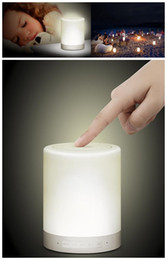 Wholesale Speaker Night Lamp - 2018 hot pin Intelligent Emotion sound indoor lighting seven color night lamp wireless card portable camping sound box lamp