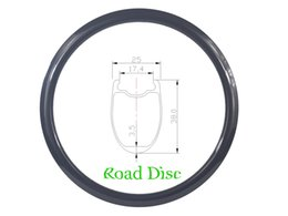 Wholesale Cyclocross Carbon - 700c 38mm clincher tubeless road disc bike carbon rim U shape 25mm wide 3K UD matte glossy 20H 24H 28H 32H CycloCross wheel