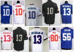 Wholesale 56 Jersey - 10 Eli Manning Jersey 13 Odell Beckham Jr. 56 Lawrence Taylor American College Football Stitched Shirts Embroidery Elite Mens Team Jerseys
