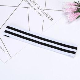 Wholesale Hair Head Hoop - New original stripe movement with elastic letter to guide sweat head belt running fitness hair hoop T4H0140