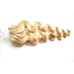 Canada P27 / 613 Couleur Corps Vague Remy Cheveux Humains 1g / brin 100g Micro Anneau de Cheveux Humains Extensions cheap micro loop hair extensions 1g strands Offre