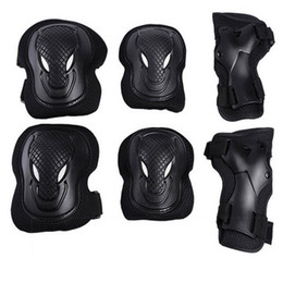 Wholesale roller skates outdoor - Athletic Outdoor Sports Wolf Face Hand Guard Elbow Knee Pads Maximal Exercise Roller-Skating Skate Bicycle Protect Safety 18py bb