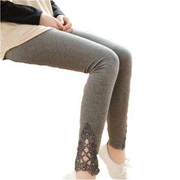 d8f76921df899e 2016 summer thin leggings women cotton knitted legging hollow out Lace diamond  print flower leggins section Mid waist pants K057
