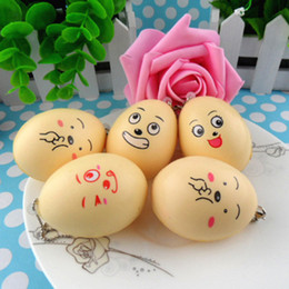 Wholesale Folding Hand Fans Cloth - Creative Emoji Egg Squishy Decompression Toys Lovely Ball Squishies Slow Rising Hand Squeezed Toy Phone Straps Charm Pendant 2 1sr C