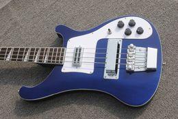 2019 cordas azuis de baixo OEM Bass Guitar Rickenback 4003 meia noite azul ricken baixo guitarra elétrica com 4 cordas cordas azuis de baixo barato