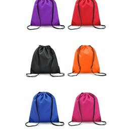 a3664f1426c6 Travel Drawstring Drawstring Waterproof Backpack Men and women Outdoor  Sports Oxford Towel Backpack Clothes Shoes Organizer