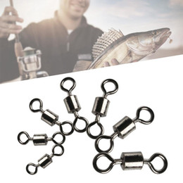 Wholesale ring force - American Style 8 Word Ring Ball Bearing Swivels With Split Rings Carp Connector Fishing Goods Strong Pulling Force Garden tool GGA296