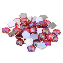 Red AB Acrylic Craft DIY Gems Flatback Earth Facets AB colors Acrylic  Rhinestone Strass High Shine Nail Art Decorations 938acd3a8620