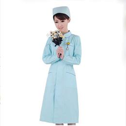 Abiti uniformi infermiere online-Clinica per infermieri ospedalieri medici per donne Set per uniforme in divisa da donna Contrasto simulato Controsoffitto per ospedali medici