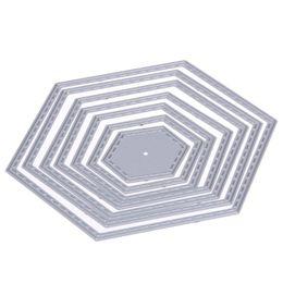Coupe pas cher Dies Hexagone spirale Die Coupe de coupe en métal Matrices pour Scrapbooking Gauffrage Costume papier carte Décoration Artisanat ? partir de fabricateur