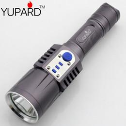 мобильный телефон факел Скидка Yupard Xm-L2 Фонарик Факел Зарядка USB 5 режимов Мобильный Power 18650 Батарея Интеллектуальный фонарик