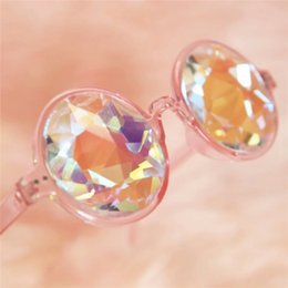 Wholesale Kaleidoscope Wholesale - New Sunglasses Retro Round Kaleidoscope Sunglasses Men Women Designer Kaleidoscope cool Glasses Cosplay goggles 3 color