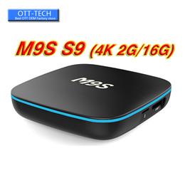 2gb ram 8gb bluetooth hdmi online-2018 Günstigstes 2GB RAM M9S S9 TX3 16GB Android-Fernsehkasten Android 7.1 RK3229 WiFi Bluetooth Media Player Unterstützung HDMI 3D 4K Media Player
