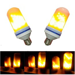 Wholesale Effect Lights - Led Flame Lamps E27 E26 LED Flame Effect Light Bulb 110V 220V Flickering Emulation Fire Lights 6W Decorative Lamp