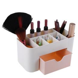 Wholesale Plastic Mini Shoes - 6 Grid Mini Makeup Storage Box Cosmetic Desktop Lipstick Cases Sundries Case Small Objects Box Wholesale Desktop Organizer