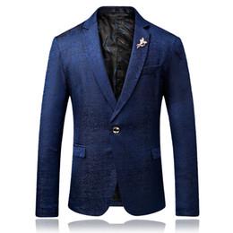 Argentina 2018 Traje de hombre nuevo Blazer Otoño Invierno Moda Hombre Chaqueta delgada coreana de ocio Abrigos individuales finos Traje de negocios para hombre Suministro