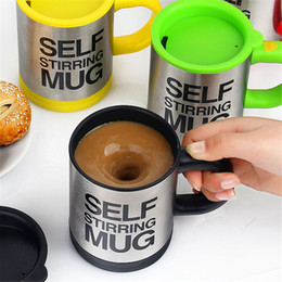Wholesale Self Mixing Cup - Automatic Electric Self Stirring Mug Coffee Mixing Drinking Cup Stainless Steel 350ml Self Stirring Coffee Mug With Retail Box 0702376