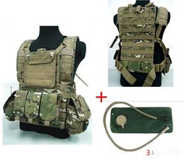 Wholesale tactical vest bags - 3L Outdoor Tactical Airsoft Molle Canteen Hydration RRV Water Bag Vest Sand Black Multicam Olive Drab