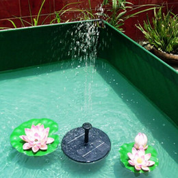 Wholesale Pv Solar Systems - Solar Pumping System PV Solar Floating Fountain Home Swimming Pool Fish Tank Water Cycle Pump 8V 1. 6w Green Without Maintenance