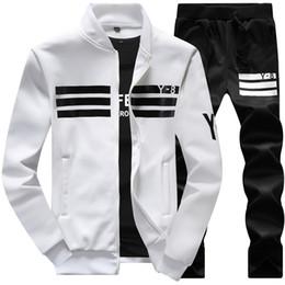 Wholesale Multi Zipper Hoodies - Wholesale- 2017 Autumn Spring Men Hoodies Fleece Tracksuits Striped Patchwork Sportswear Casual Sweatshirts Male 4XL