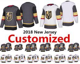 Wholesale Hockey Jersey Customized - 2018 New Vegas Golden Knights Customized Jersey Hunt Sbisa Smith Nosek McNabb Nosek Bellemare Engelland Accept custom Hockey Jerseys