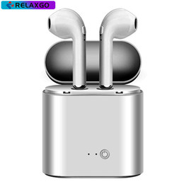 Wholesale x box charger - I7 I7S TWS Bluetooth Headphone with Charger Box Twins Wireless Earbuds Earphones for iPhone X IOS iPhone Android Samsung with Retail Packing