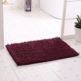Wholesale Traditional Bathroom Showers - 40*60CM Coral Bath Rug For Bathroom Chenille Bath Rug Gray Non Skid Shower Washable