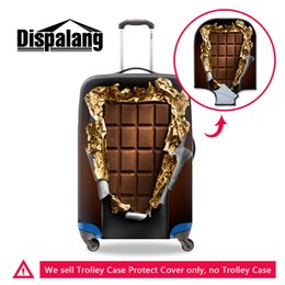 Wholesale Personalized Chocolates - fashion luggage protector cover make your own chocolate pattern personalized travel bag accessories low price suitcase cover for travelling