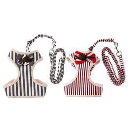 Wholesale black dog tie - mesh S,M,L,XL Vest Reflective Bow Tie Breathable and comfortable Pet Leash Mesh dog harness Suit Vest Collar