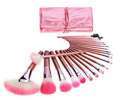 Wholesale 22 Makeup Brush Set - High-quality! Makeup Brushes Makeup Tools 22 piece Professional Brush sets pink DHL Free shipping+GIFT
