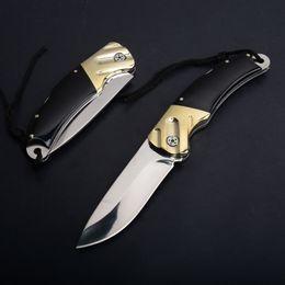 Poliertes taschenmesser online-2pcs / lot taktisches faltendes Messer 440C Spiegel polnischer Tropfen-Punkt-Blatt-Kupfer-Kopf + Kuh-Horn-Griff EDC Taschenmesser-Geschenk-Messer