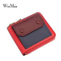 Wholesale Smile Wallet - cute smile Wallet Women Purse patchwork Brand Coin Purse Zipper girls Short Wallet Women quality Leather Small factory